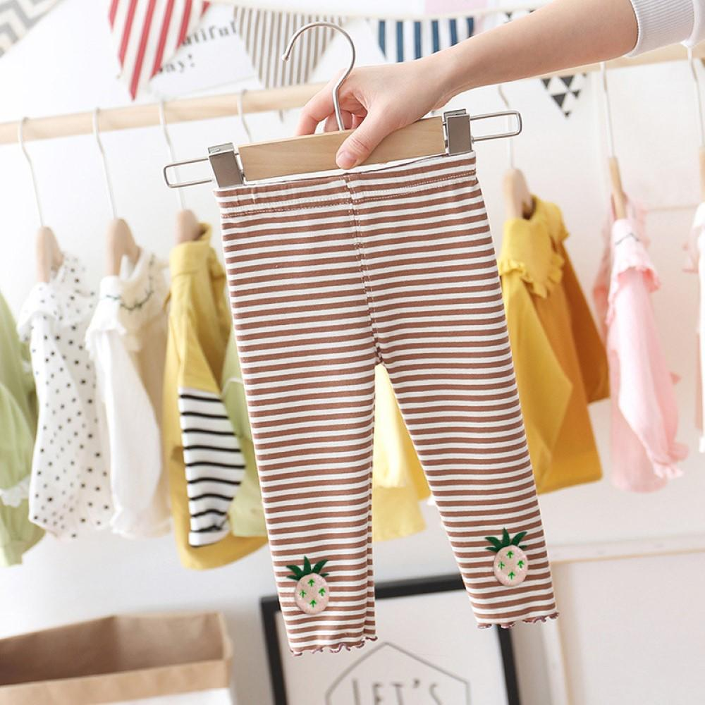 Toddler Girls Pineapple Striped Leggings Little Girl Leggings Wholesale