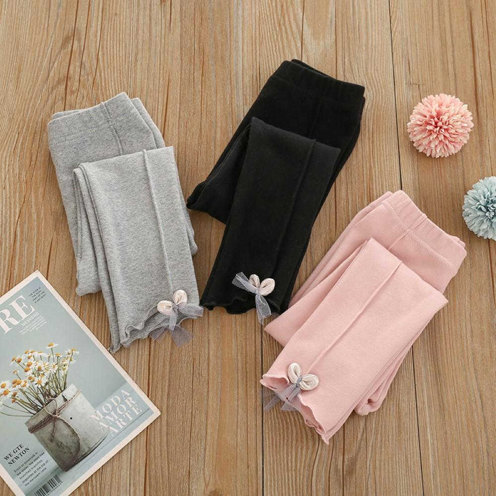 Toddler Girls Solid Color Lace Leggings Girls Leggings Wholesale