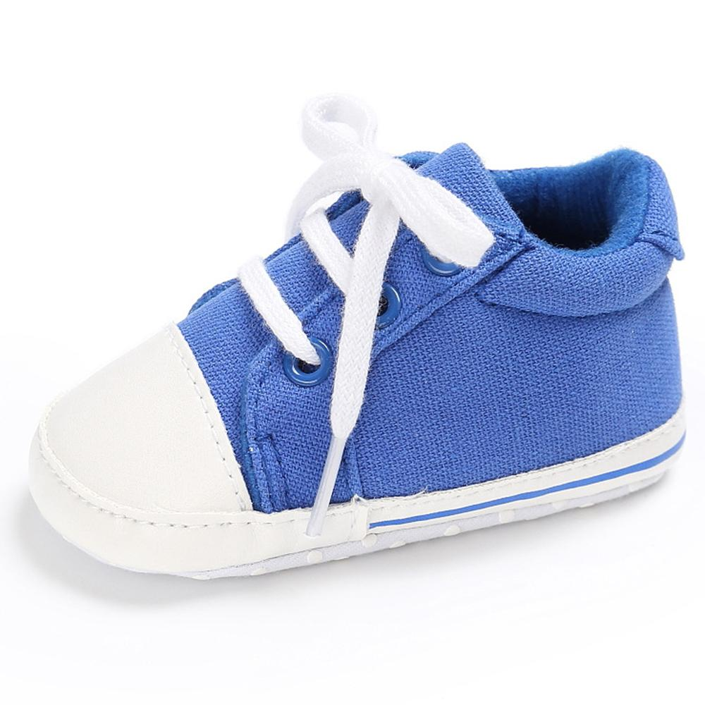 Baby Unisex Canvas Lace Up Solid Sneakers Wholesale - PrettyKid