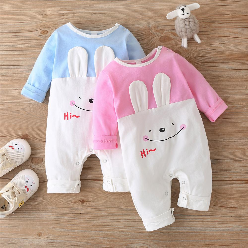 Baby Unisex Rabbit Long Sleeve Cute Romper Baby Clothes Suppliers - PrettyKid