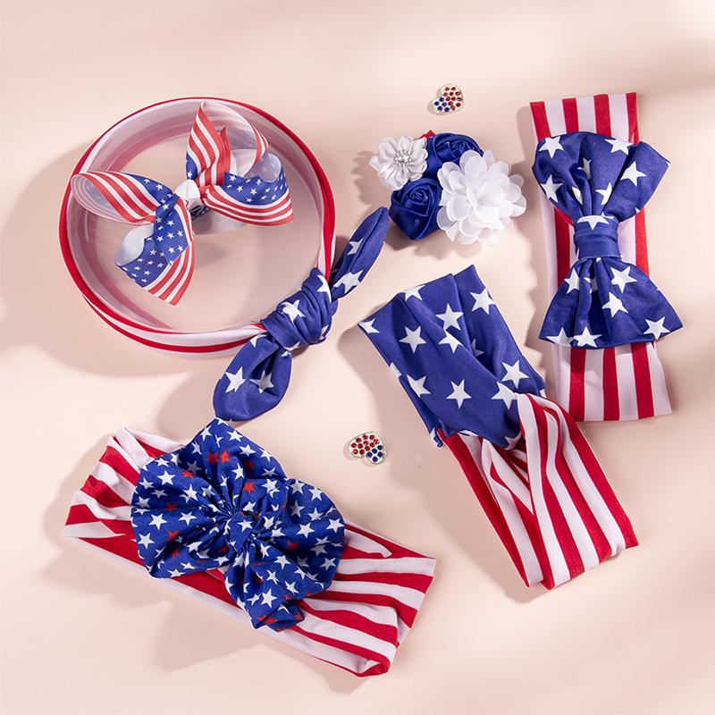 3 pieces Independence Day Bow Headband