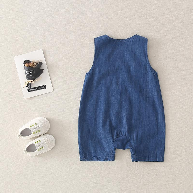 Solid Sleeveless Bodysuit for Baby Wholesale children's clothing