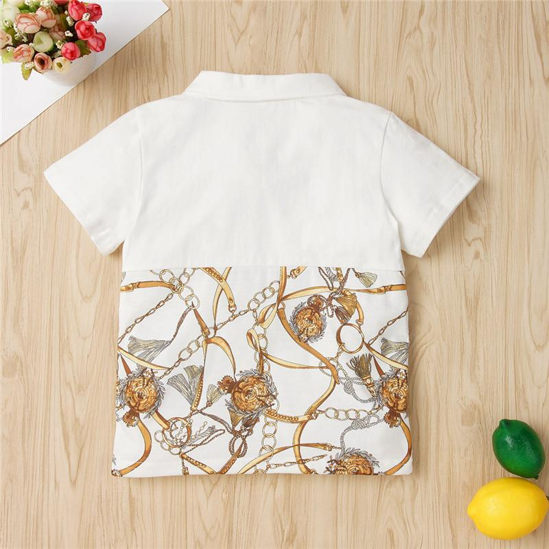 Geometric Pattern T-shirt for Toddler Boy Wholesale children's clothing