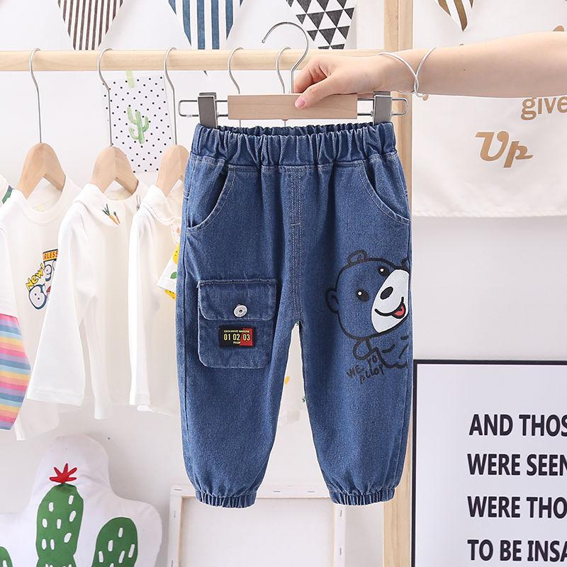 Bear Pattern Jeans for Toddler Boy Wholesale children's clothing