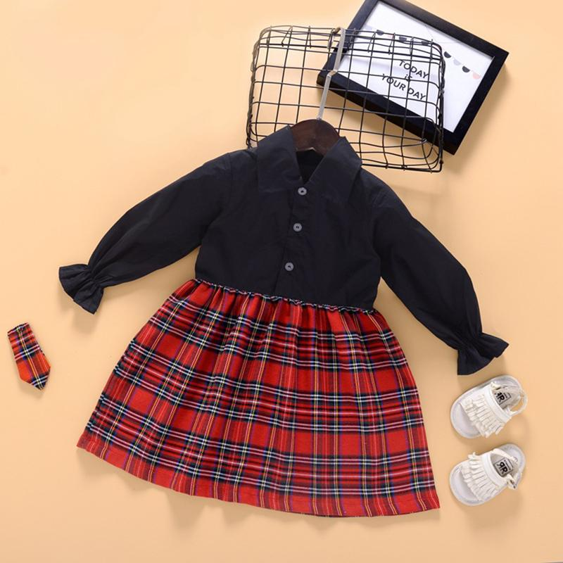 Plaid Dress for Toddler Girl Wholesale children's clothing