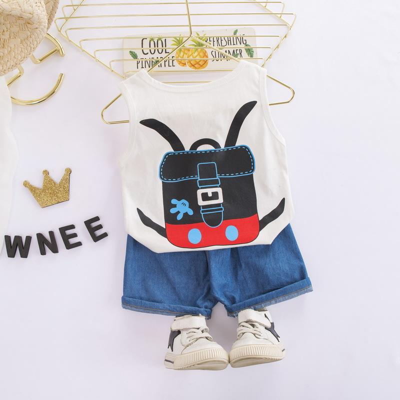 2-piece Cartoon Design Vest & Shorts for Children Boy - PrettyKid