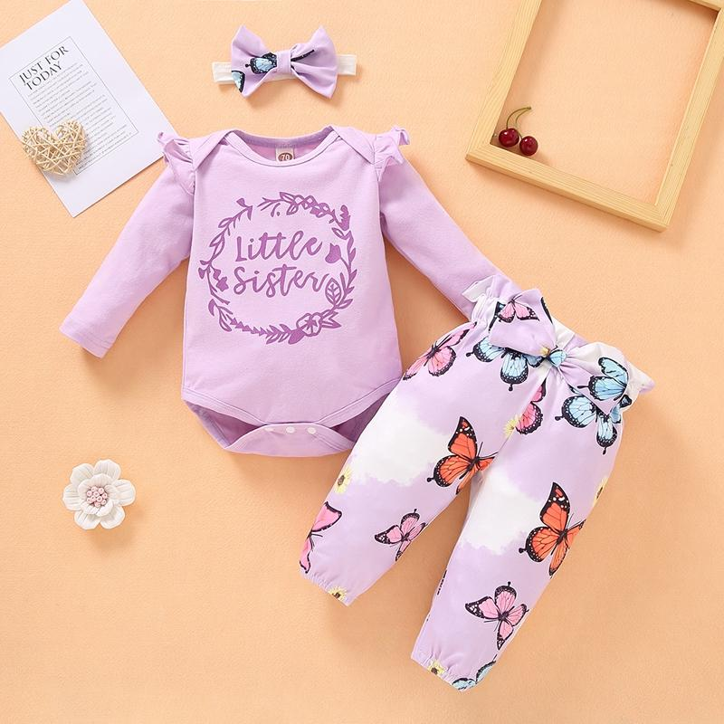 3-piece Headband & Pants & Romper for Baby Girl - PrettyKid