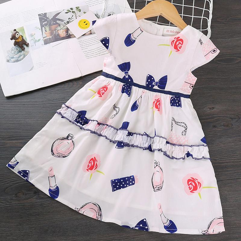 Floral Printed Dress for Toddler Girl Wholesale children's clothing - PrettyKid