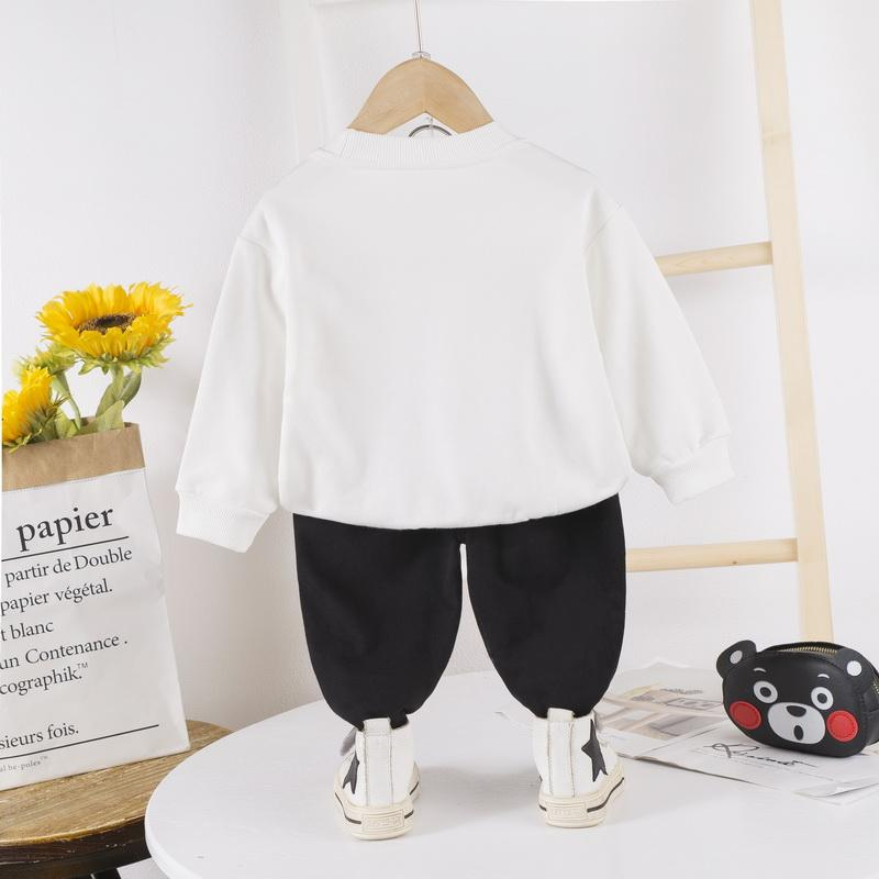 2-piece Cartoon Design Sweatshirts & Pants for Children Boy - PrettyKid