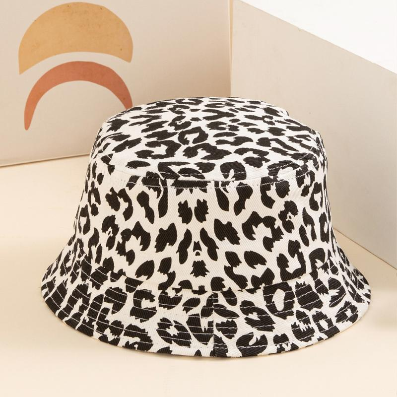Leopard Print Bucket hat Sunhat for girls