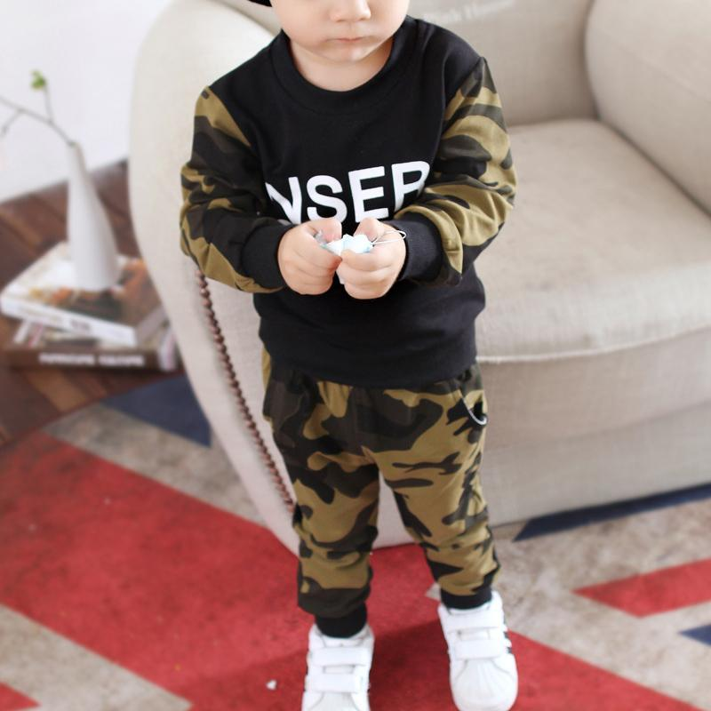 2-piece Camouflage Sweatshirts & Pants for Toddler Boy Wholesale children's clothing