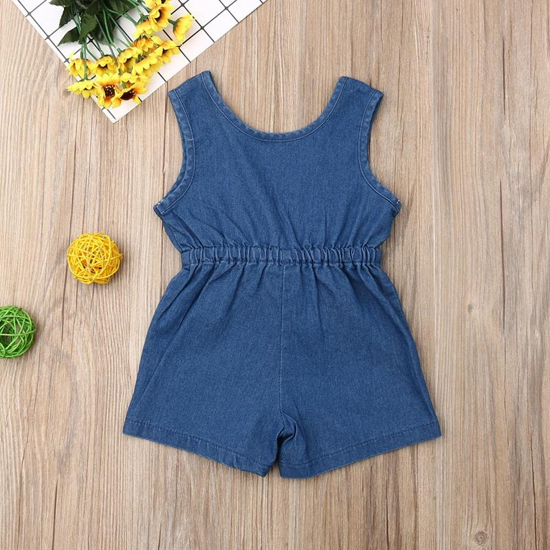 Solid Denim Overalls for Toddler Girl Wholesale children's clothing
