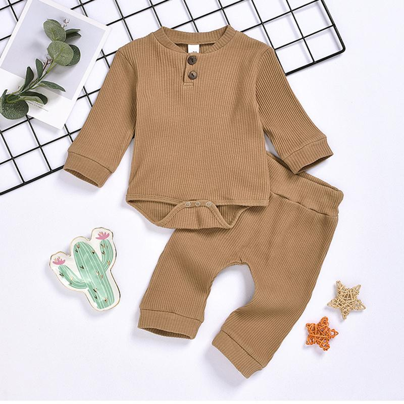 2-piece Solid Pattern Bodysuit &  Pants  for Baby Wholesale children's clothing