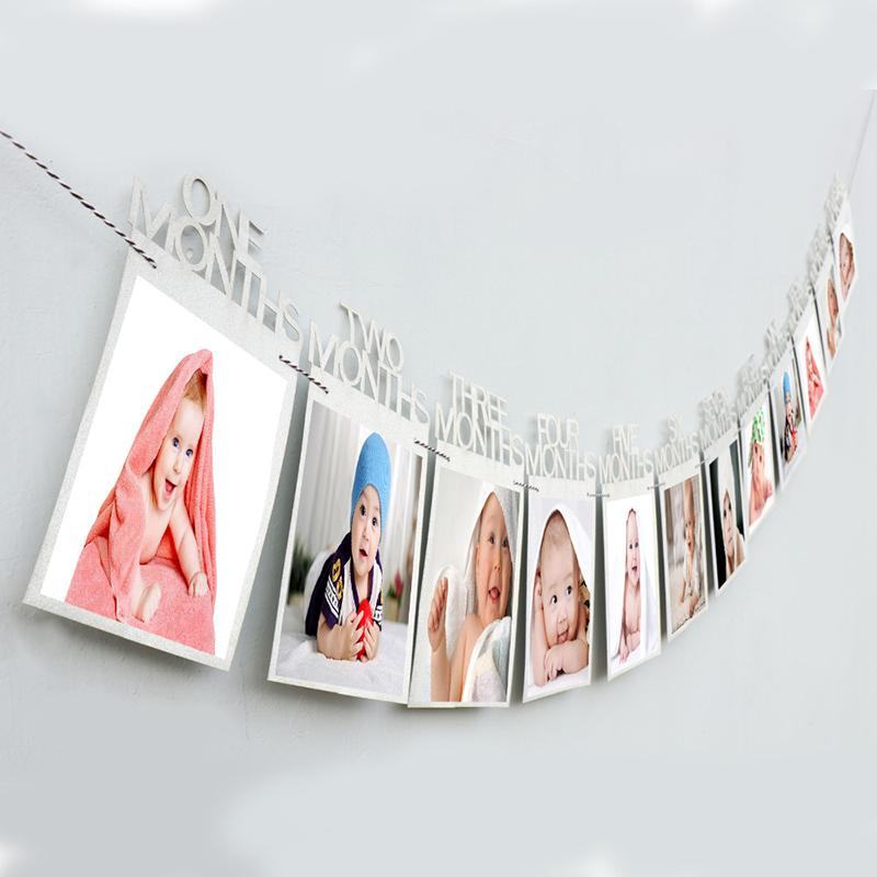 Retro Birthday Party Photos Tag Pull Flag Photo Frame Wholesale children's clothing