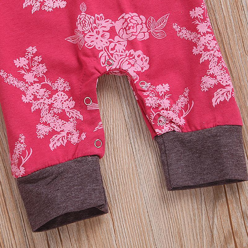 2pcs Floral Fashion Baby Jumpsuits Wholesale children's clothing - PrettyKid