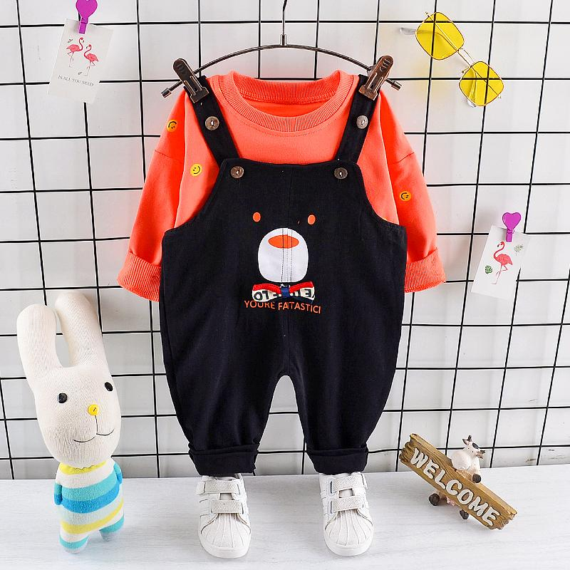 2-piece Sweatshirts & Bear Pattern Pants for Toddler Boy Wholesale children's clothing