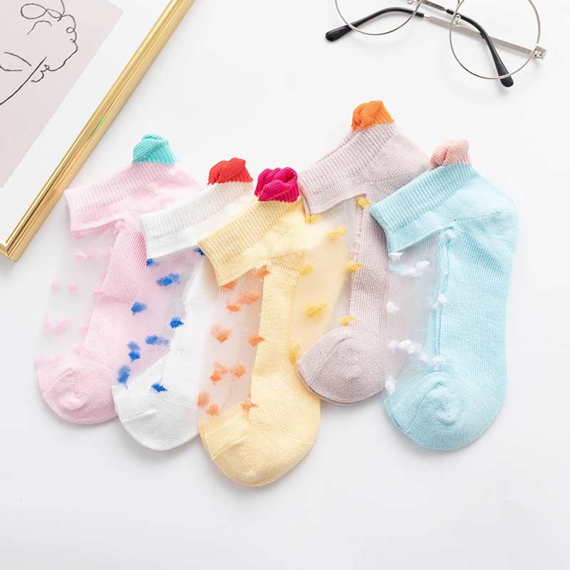 5-piece Cartoon Pattern Breathable Socks for Baby Wholesale children's clothing - PrettyKid