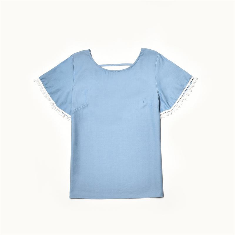 Lace Tassl T-shirt Mother Baby Clothes Wholesale children's clothing