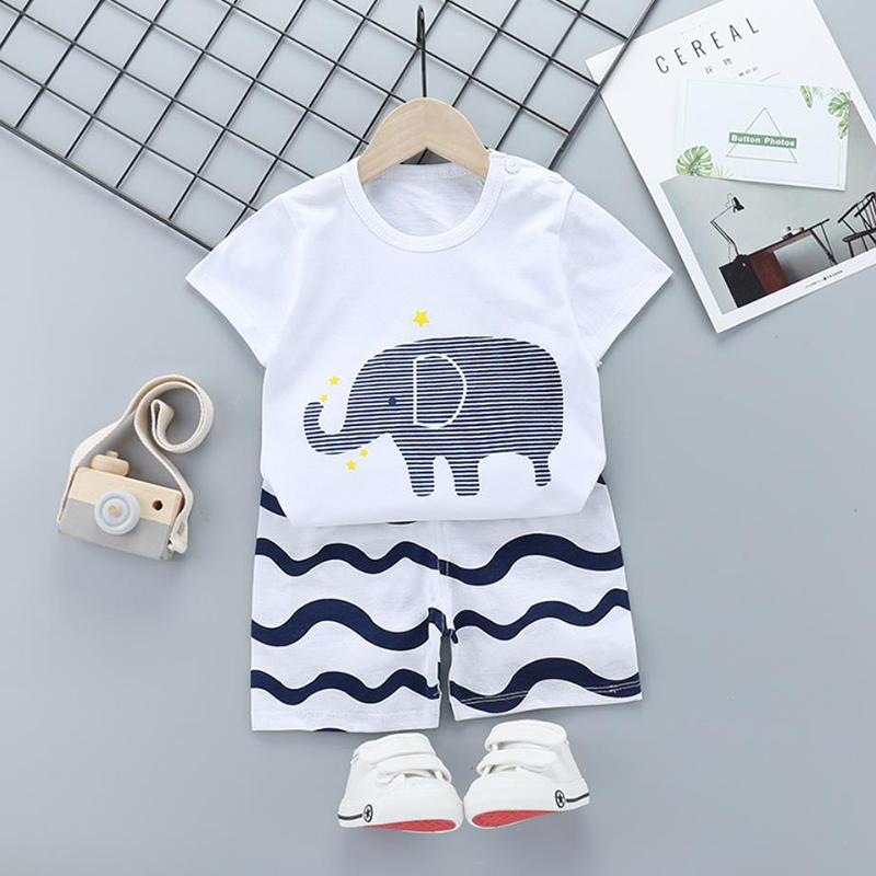 2pcs Cute Prints T-shirt and Pants - PrettyKid