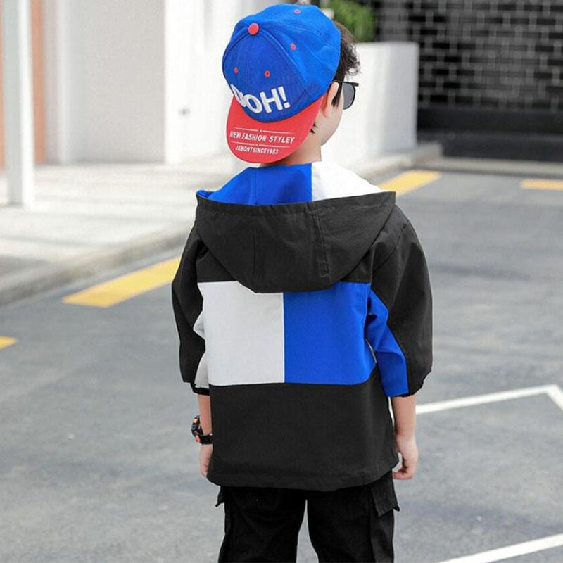 Color-block Jacket for Boy Wholesale children's clothing