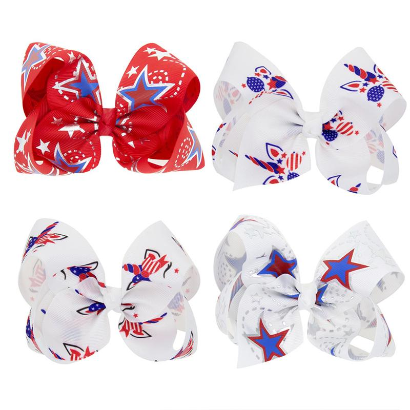 Independence Day Bow Hair clip