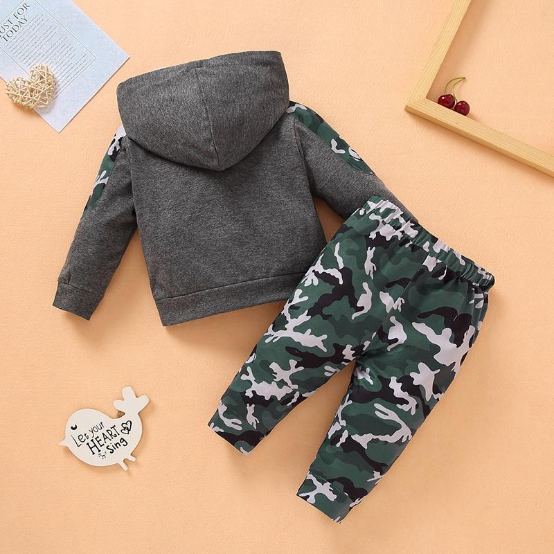 2-piece Camouflage Pattern Hoodie & Pants for Baby Boy Wholesale children's clothing