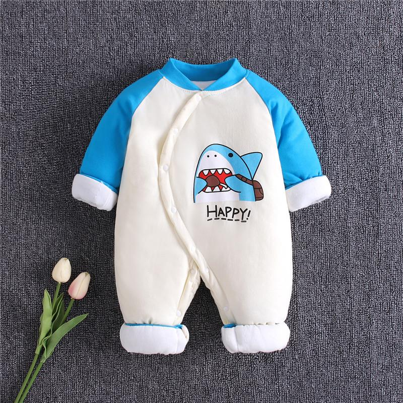 Shark Pattern Jumpsuit for Baby Boy Wholesale children's clothing