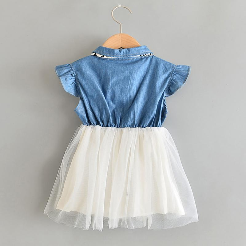 Ruffle Patchwork Tulle Dress for Toddler Girl Wholesale children's clothing