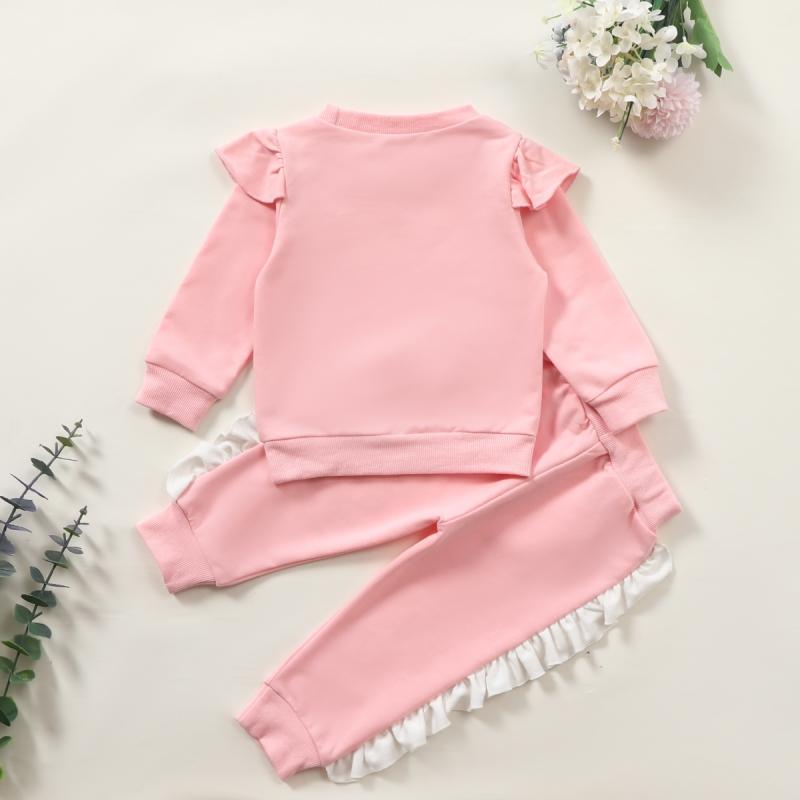 2-piece Ruffle Sweatshirts & Pants for Baby Girl Wholesale children's clothing