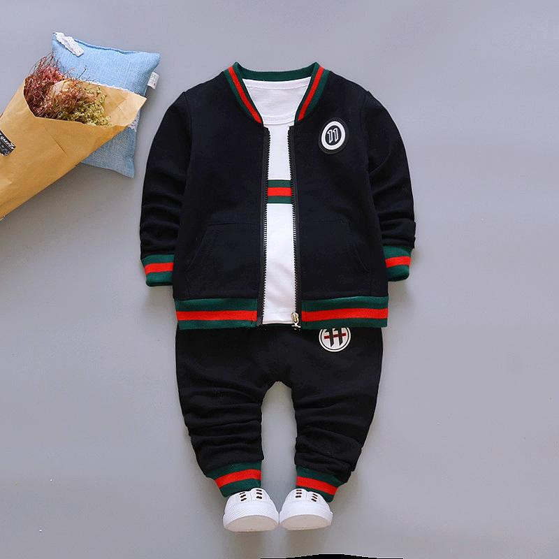 3-piece Sporty Coat & Sweatshirts & Pants for Toddler Boy Children's clothing wholesale - PrettyKid