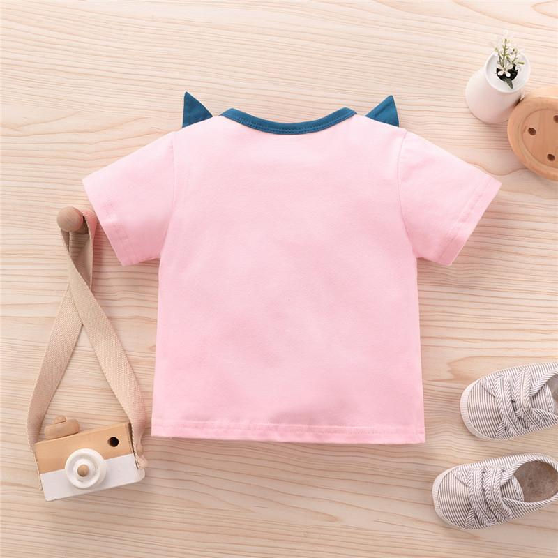 Cartoon Pattern T-shirt for Baby Girl - PrettyKid