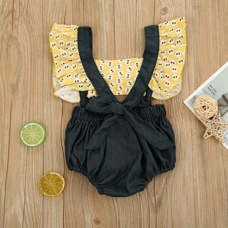 1 Piece Ruffle Bodysuit for Baby Wholesale children's clothing