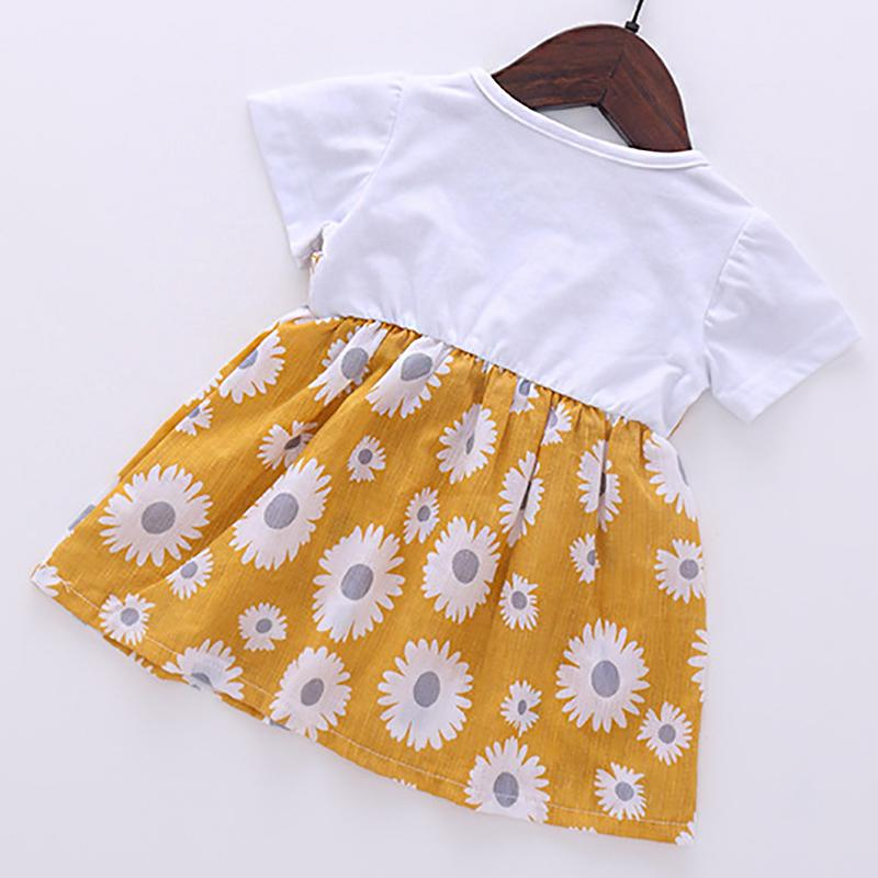 2-piece Daisy Printed Dress for Toddler Girl Wholesale children's clothing