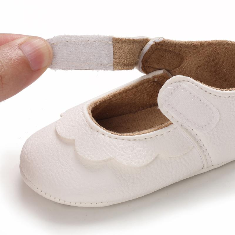 Solid Velcro Design Children Shoes for Baby Girl