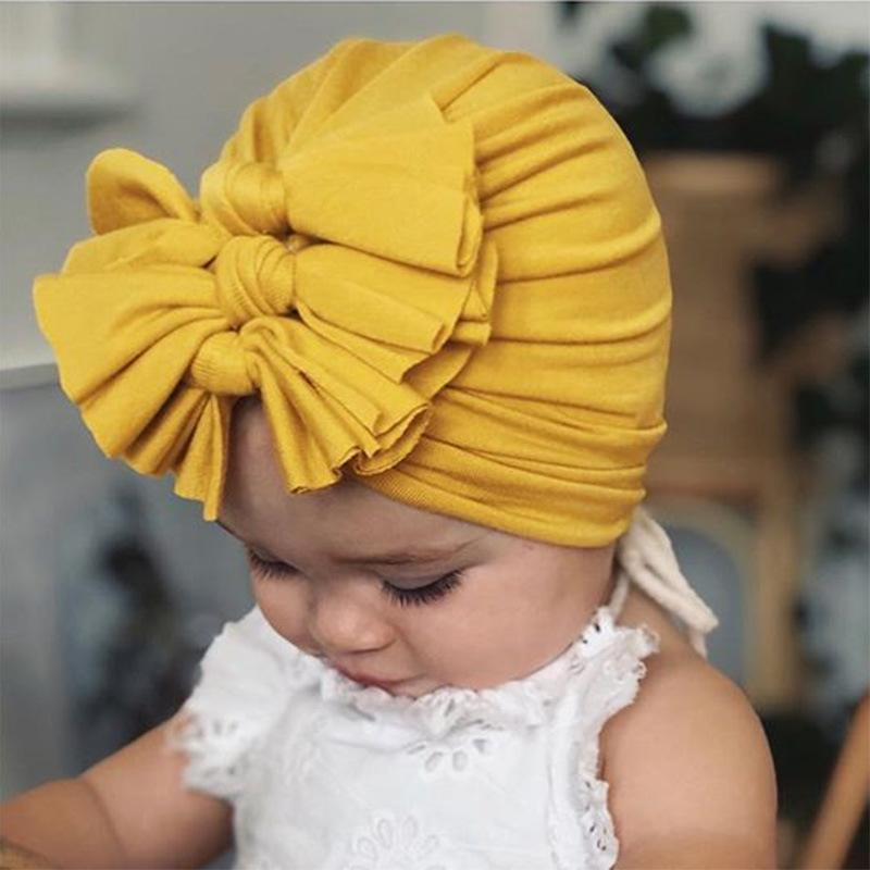 Cute Bownot Decoration Ruffled Head Cap Wholesale children's clothing