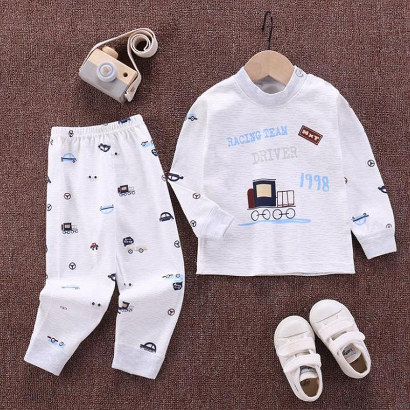 2-piece Vehicle Pattern Pajamas Sets for Toddler Boy Wholesale children's clothing