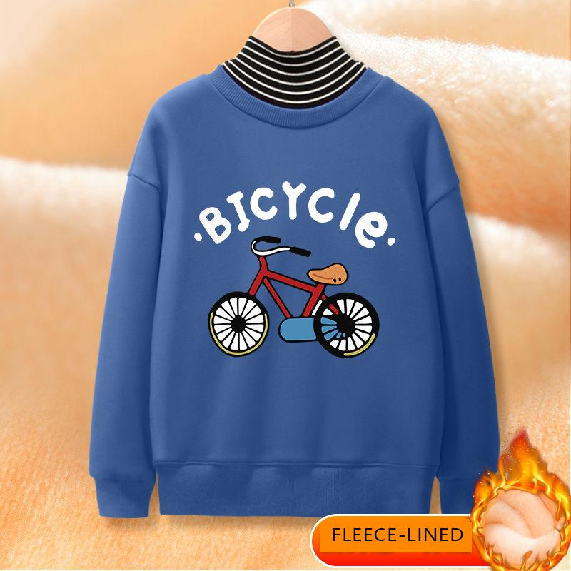 Fleece-lined Turtleneck Sweatshirt for Boy Wholesale children's clothing