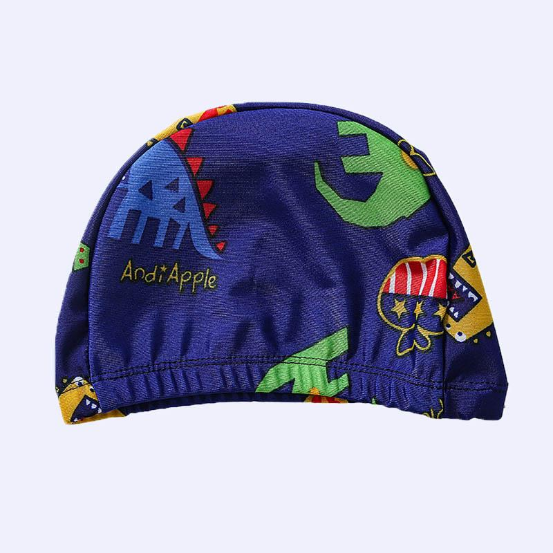 Kid Boy Dinosaur Patten Color-block Swimsuits & Swimming Cap 3 Pic