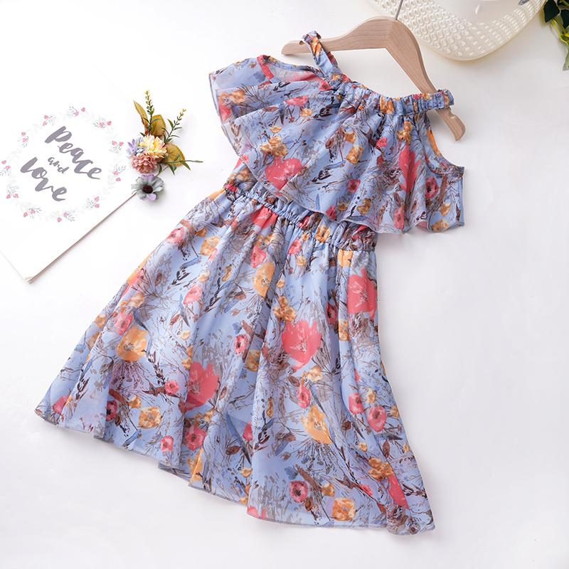 Toddler Girl Floral Pattern Summer Cami Dress Wholesale Children's Clothing