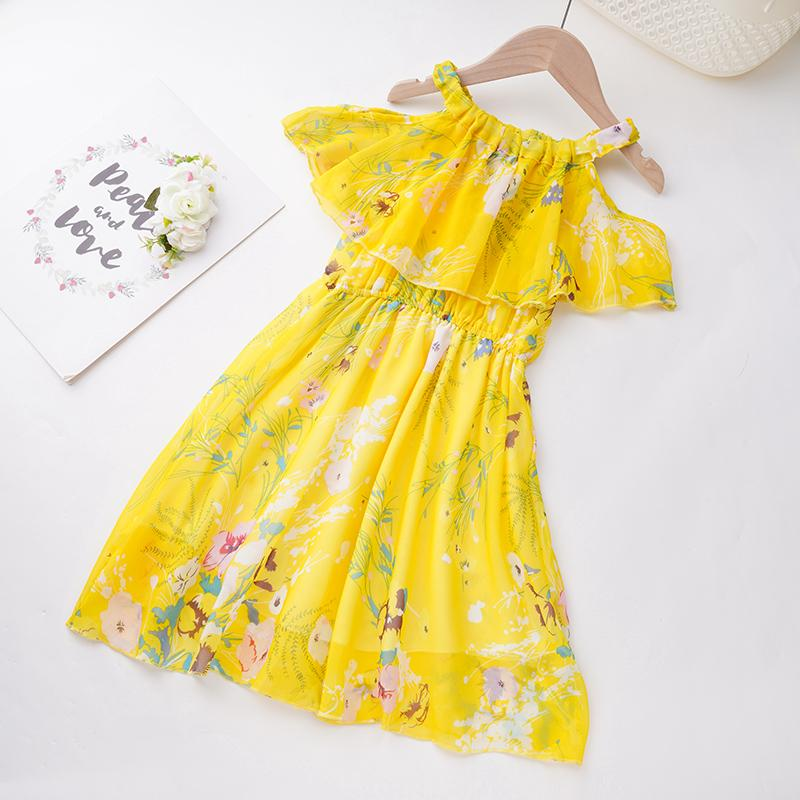Toddler Girl Floral Pattern Summer Dress Wholesale Children's Clothing