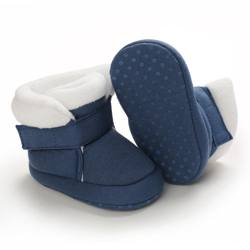 Velcro Design Soft Cotton Fabric Baby Shoes
