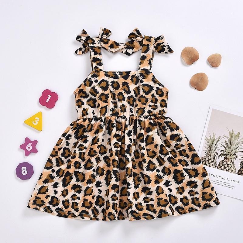Sling Leopard Pattern Dress for Baby Girl