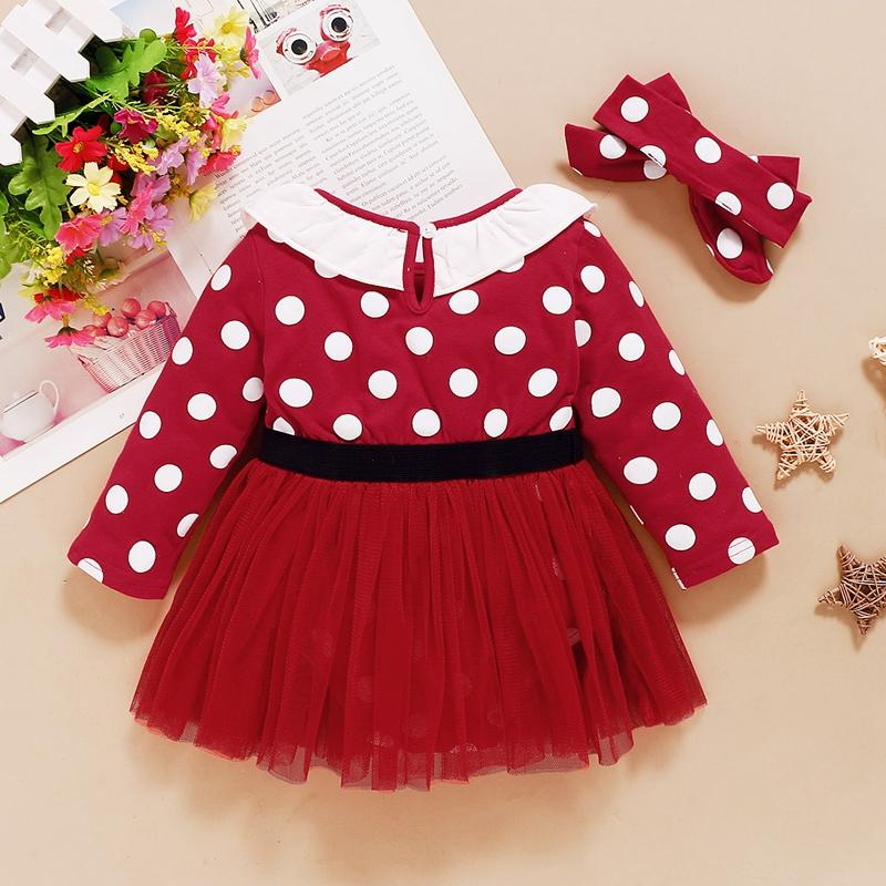 2-piece Polka Dot Dress & Headband for Baby Girl Wholesale children's clothing