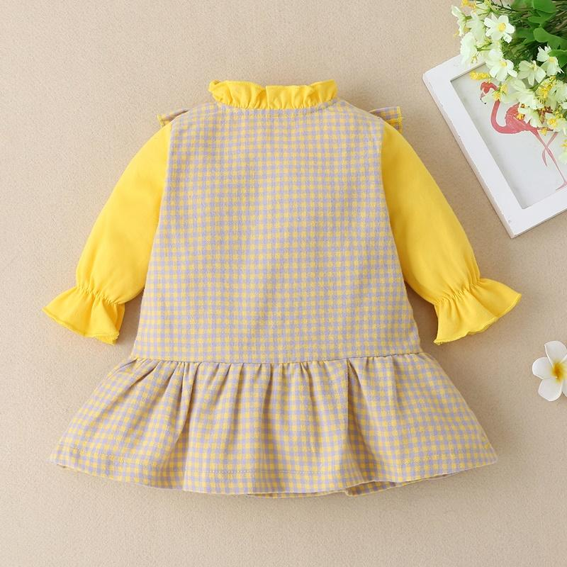 Ruffle Plaid Dress for Baby Girl Wholesale children's clothing