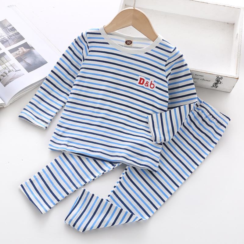 2-piece Striped Pajamas Sets for Toddler Boy Wholesale children's clothing