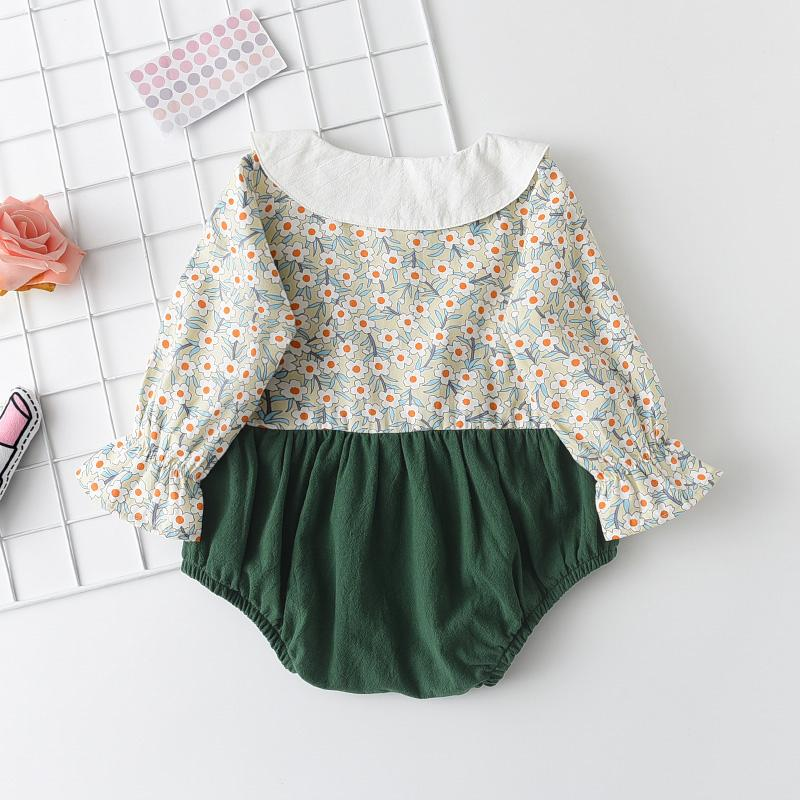 Floral Bodysuit for Baby Girl Wholesale Children's Clothing