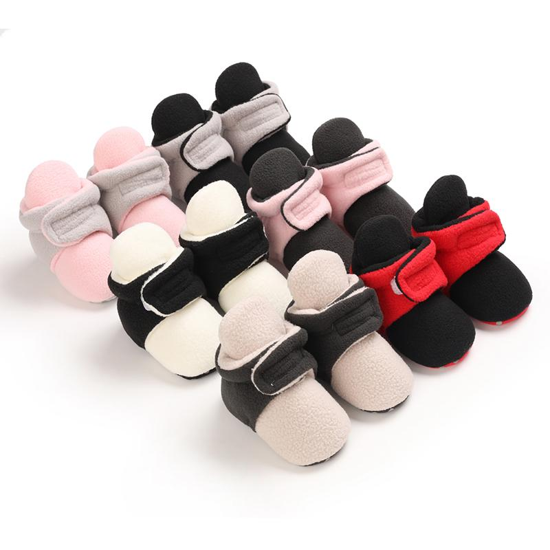 Childrens Clothes Wholesale Near Me Velcro Design Cotton Fabric Baby Shoes