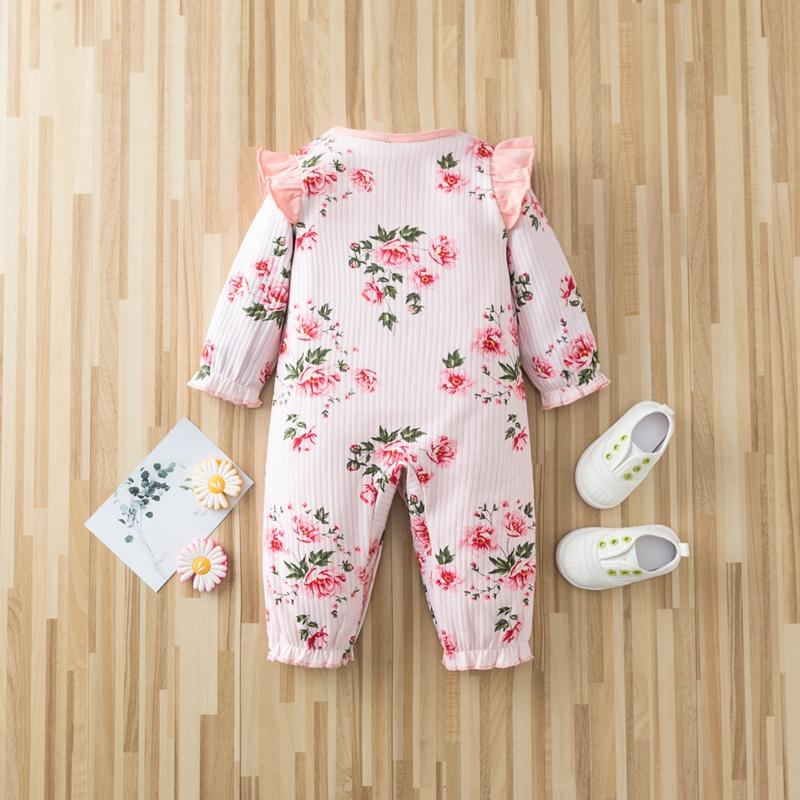 Floral Printed Jumpsuit for Baby Girl Wholesale children's clothing - PrettyKid