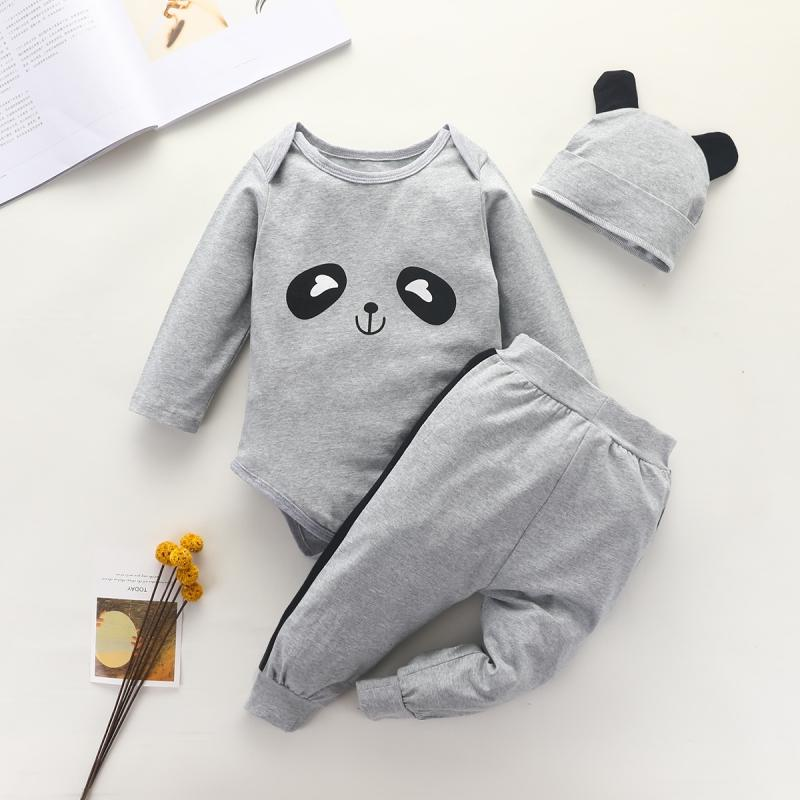 3-piece Romper & Hat & Pants for Baby Boy Wholesale Children's Clothing