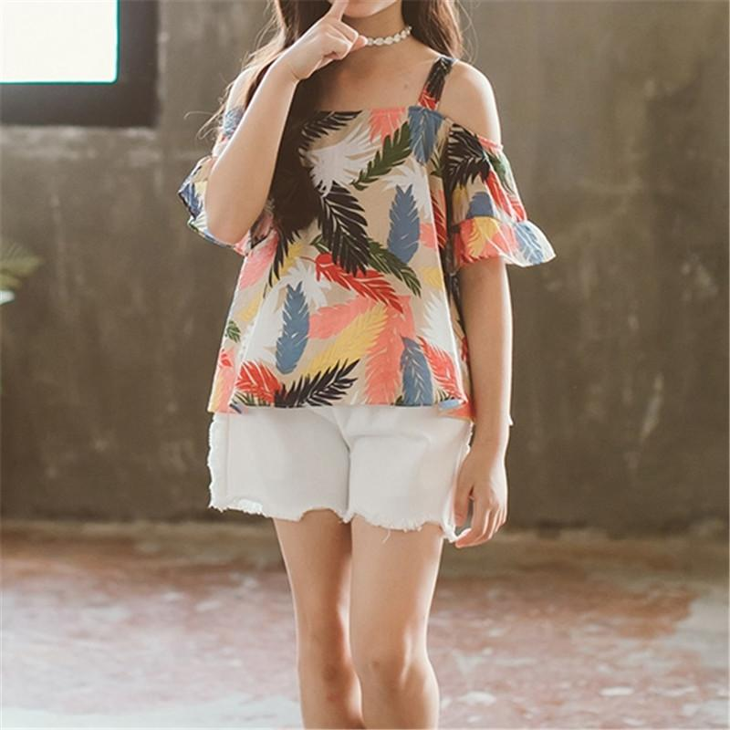 2-piece Floral Printed Tops & Shorts for Girl - PrettyKid